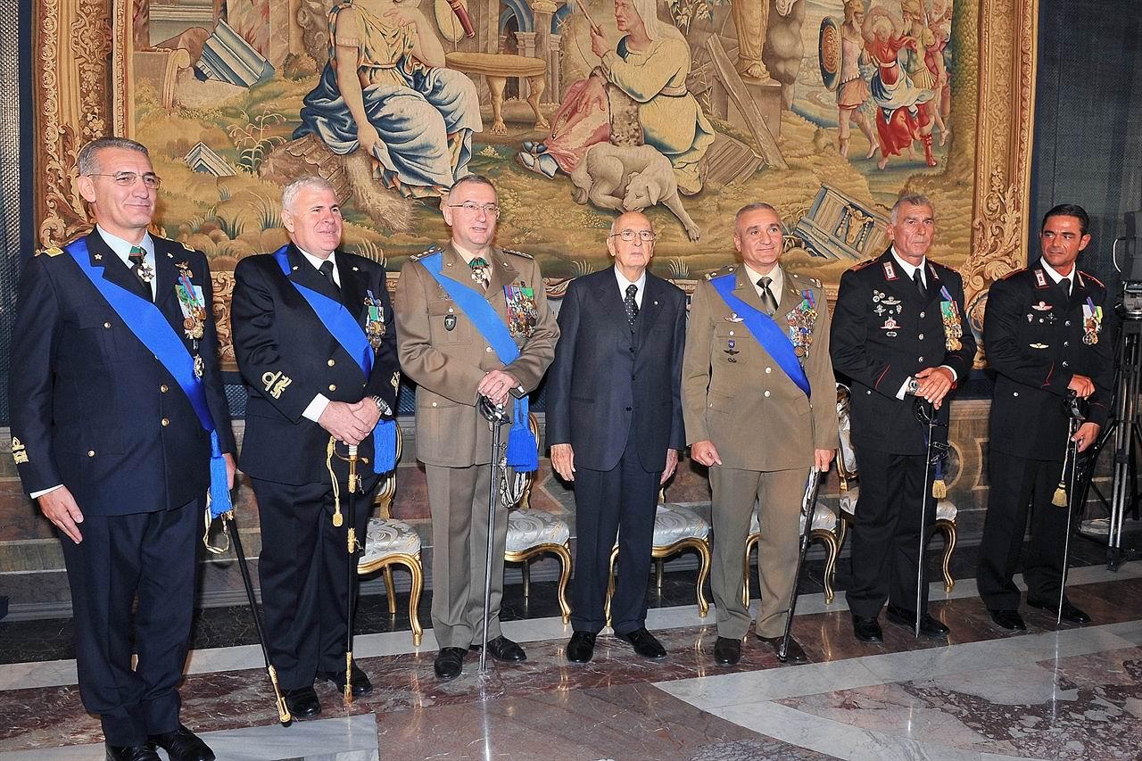Il Generale Rosario Castellano dal Presidente Napolitano.