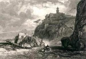Persano (Pozzano) Bay of Naples - Drawn Harding  inc
