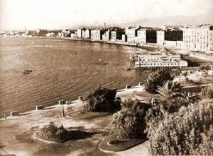 I lidi in Villa Comunale (cartolina anni '30).