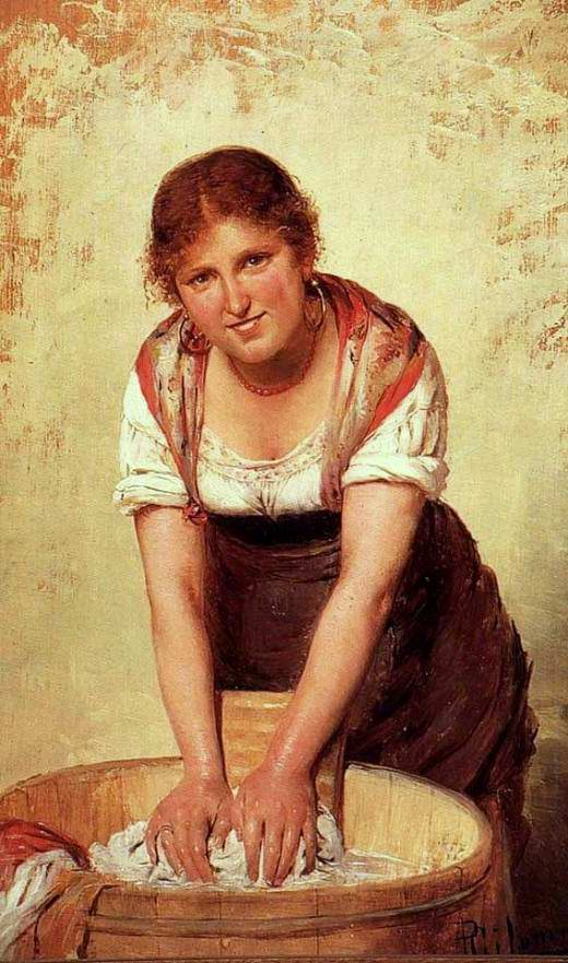 La lavandaia - olio su tela di fine '800 (immagine tratta dal web)