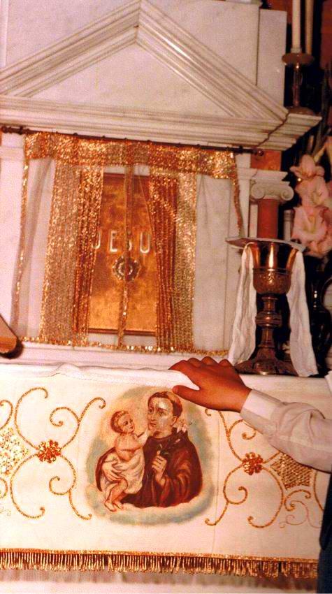 Particolare dell'altare chiesa di Sant'Antonio