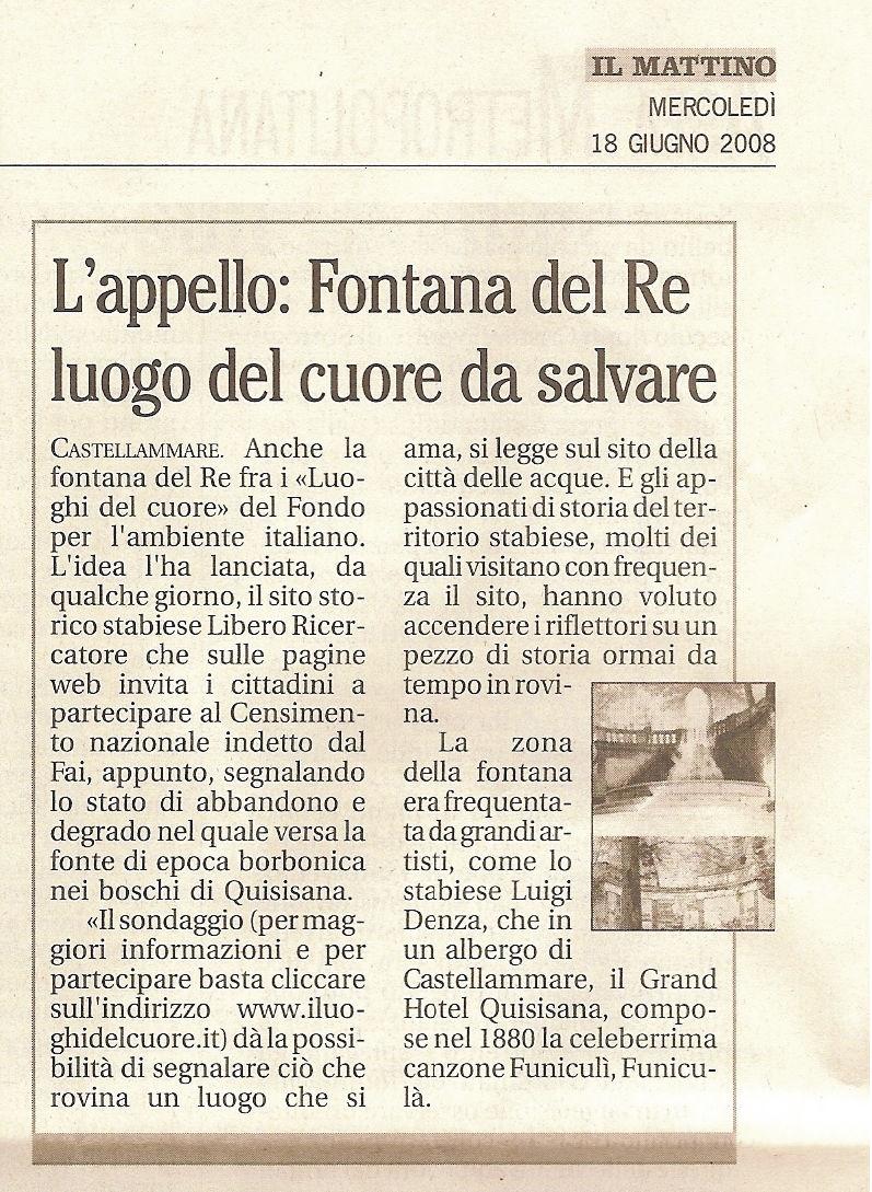 """""""Il Mattino"""" (18 giugno 2008)"""