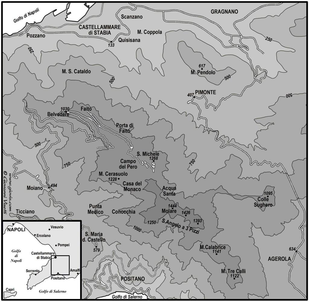 Cartografia: le orchidee di Castellammare di Stabia e Monte Faito.
