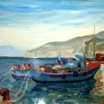 Barche in mare a Marina di Cassano