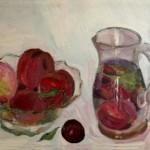Composizione di frutta in trasparenza