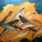 Composizione di vari pesci