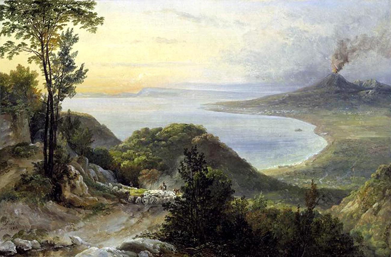 Veduta della baia di Napoli vista da Pimonte
