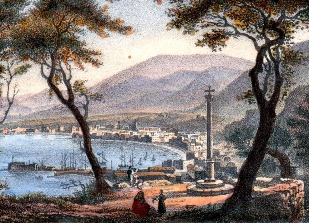 Pozzano di Castellammare (Antica stampa - coll. Gaetano Fontana)