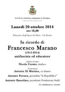 Commemorazione Francesco Marano