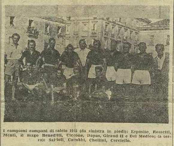 Lo Stabia, campione 1945 (gentile concessione del dr. Carlo Vingiani).