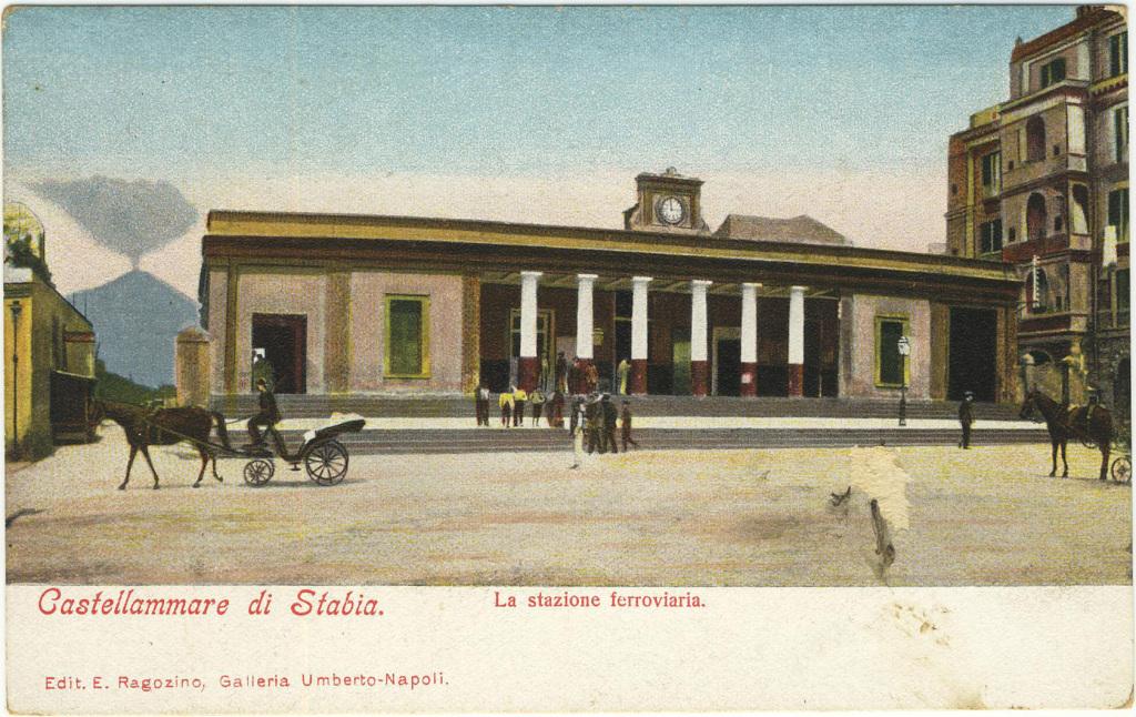 Edit. E. Ragozino, Napoli - 3536 - La stazione ferroviaria