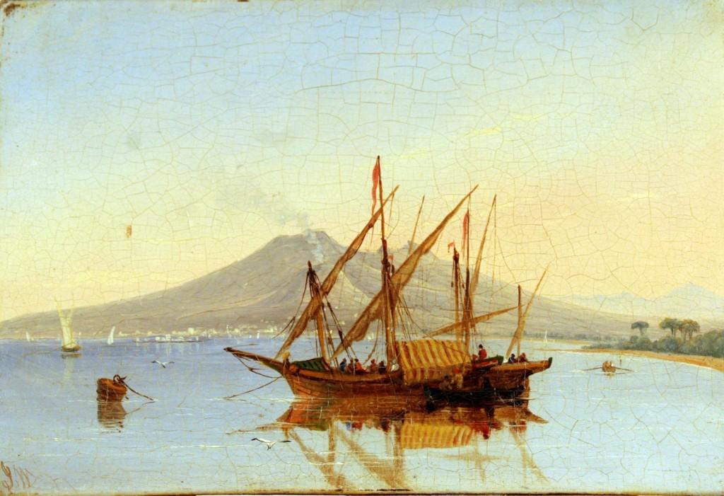 Vesuvio da Castellammare - Walter Joseph of Bristol (Bristol 1783 – 1856)