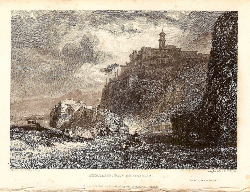 Persano (Pozzano) Bay of Naples - Drawn Harding inc. - 1832