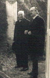 Libero D'Orsi e il dottor Giovanni Celoro Parascandolo, immagine di copertina di Come ritrovai l'antica Stabia