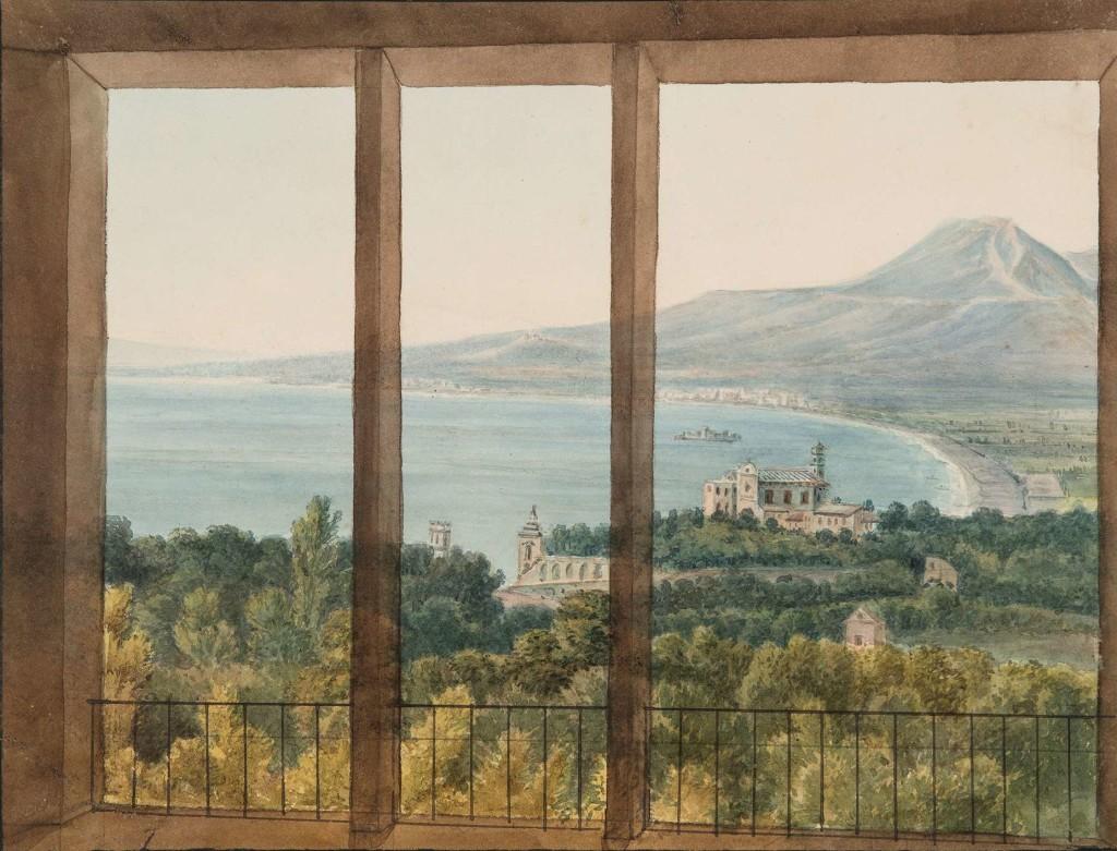 Veduta da una finestra di una villa di Quisisana sul Golfo di Napoli (J.C. Dahl)