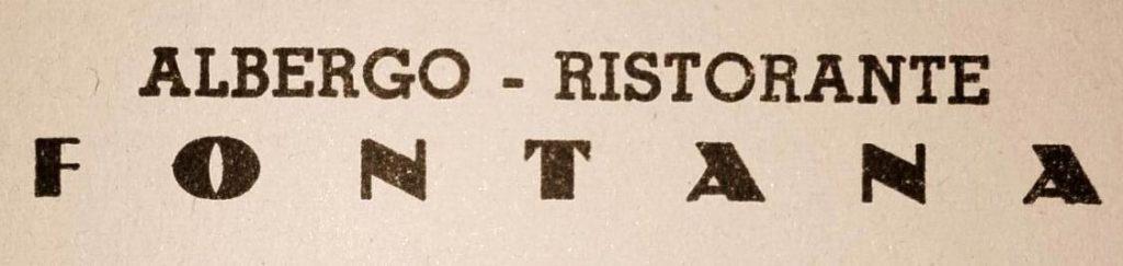 Albergo - Ristorante FONTANA