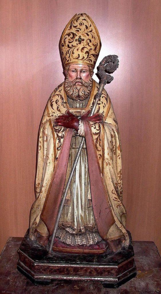 San Catello sec. XVII statua lignea