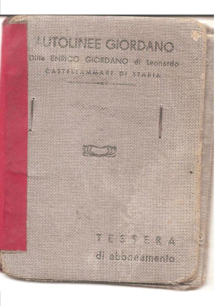 Tessera Autolinee Giordano