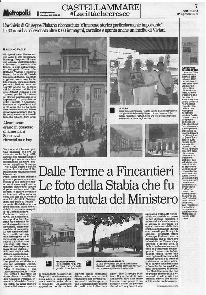 Metropolis l'Archivio Plaitano - Tiziano Valle (21 agosto 2016)