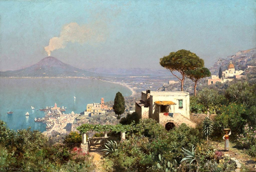 "Edmund Berninger ""The Bay of Naples, Vesuvius Beyond"""