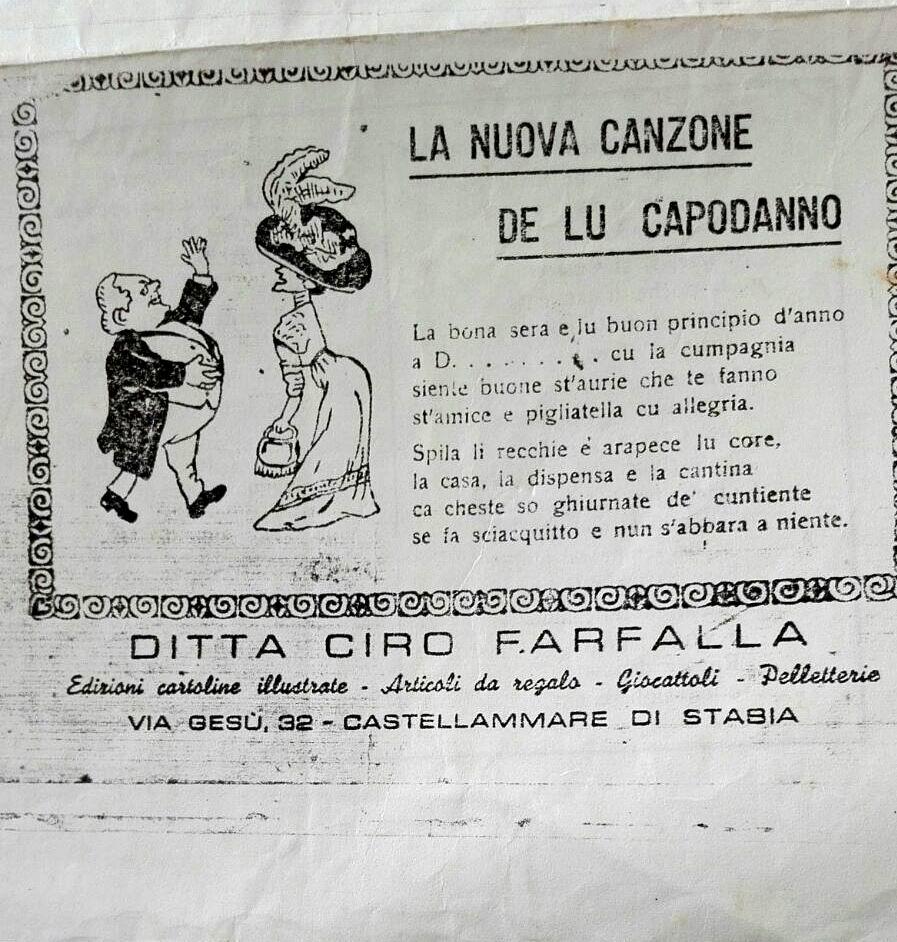La Nuova Canzone de lu Capodanno - edizioni Ciro Farfalla (coll. G. Fontana).
