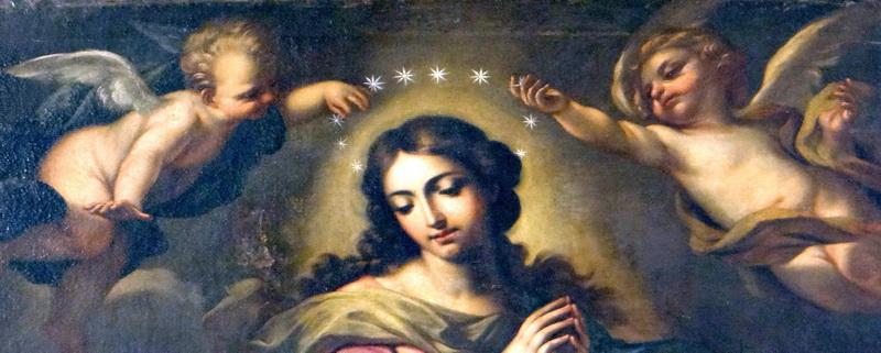 Il dipinto della Immacolata Concezione della chiesa Di san Giacomo, foto Giuseppe Zingone