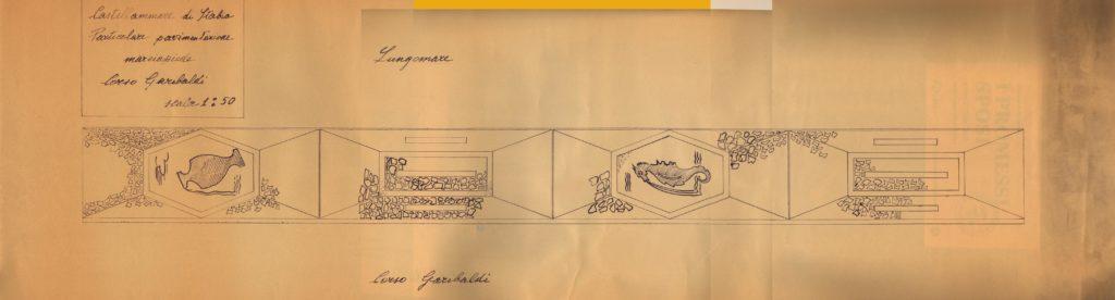 Il celebre Mosaico della Villa Comunale (Bozza originale disegnata dall'Avv. Franco Scarselli