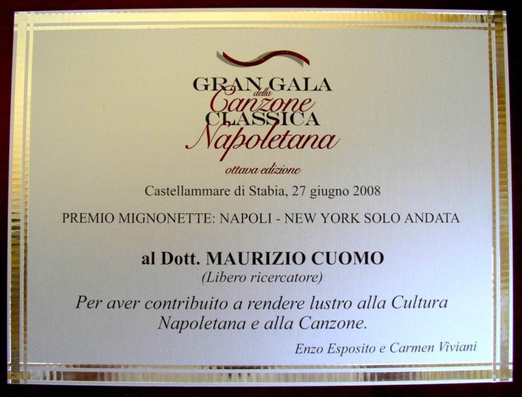 """27 giugno 2008 - Premio """"Mignonette"""""""