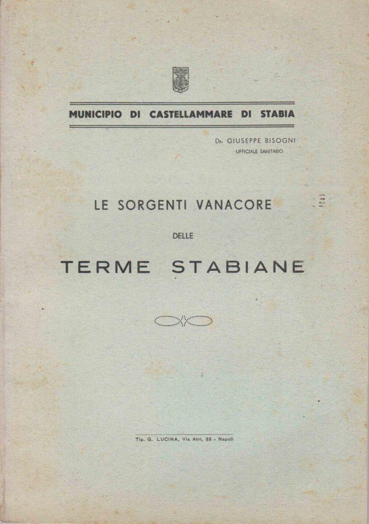 Le sorgenti Vanacore delle Terme Stabiane (1940)