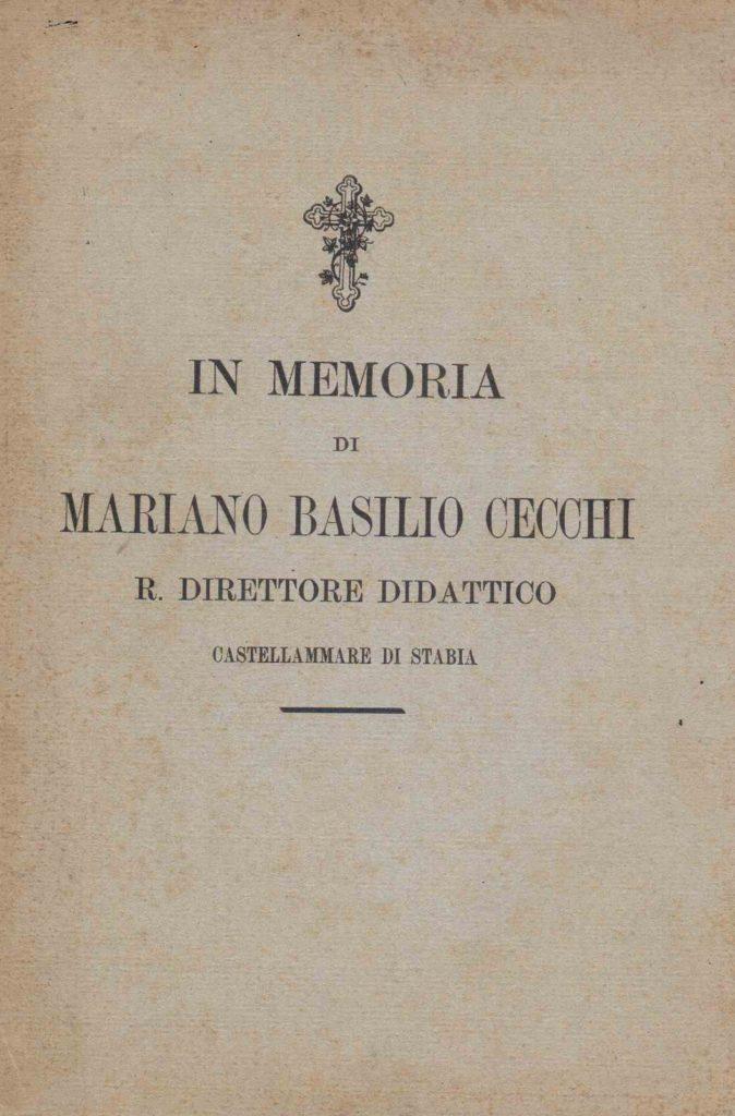 In memoria di Mariano Basilio Cecchi (1932)