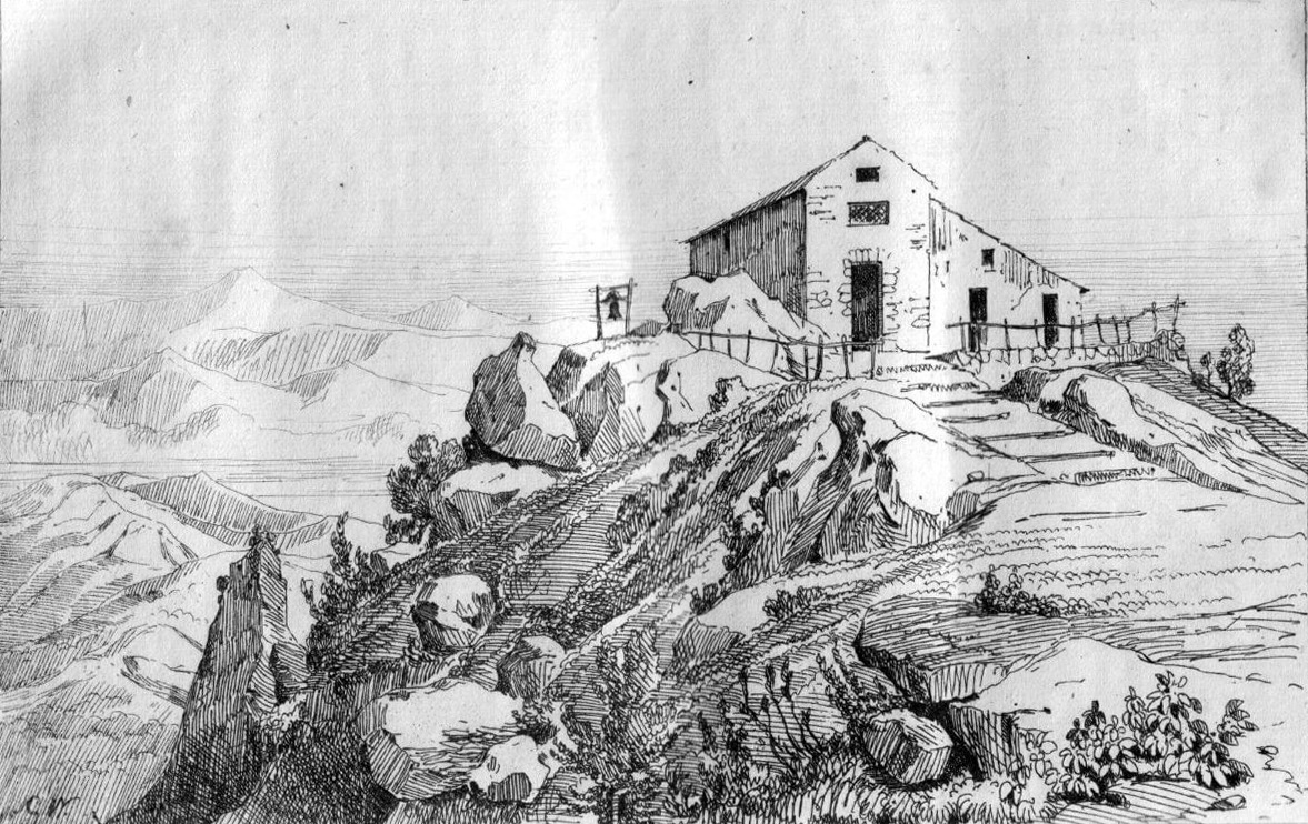 I Tre Santi, Il Santuario al monte Faito, collezione Gaetano Fontana