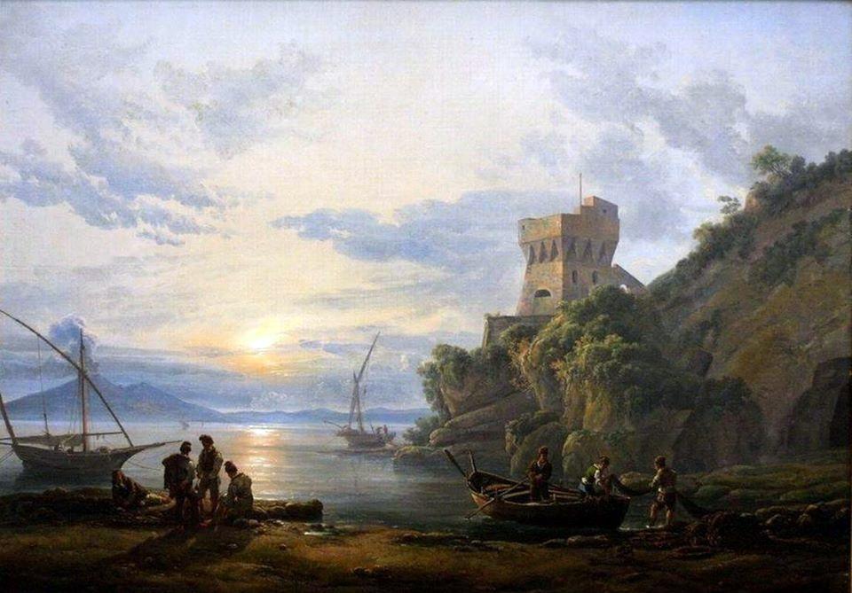 Coast near Castellammare in the morning, Johan Christian Dahl anno 1822