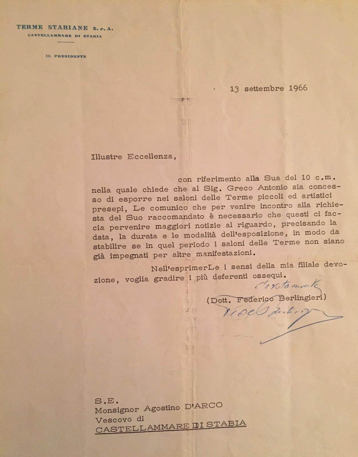 Lettera del 13 settembre 1966