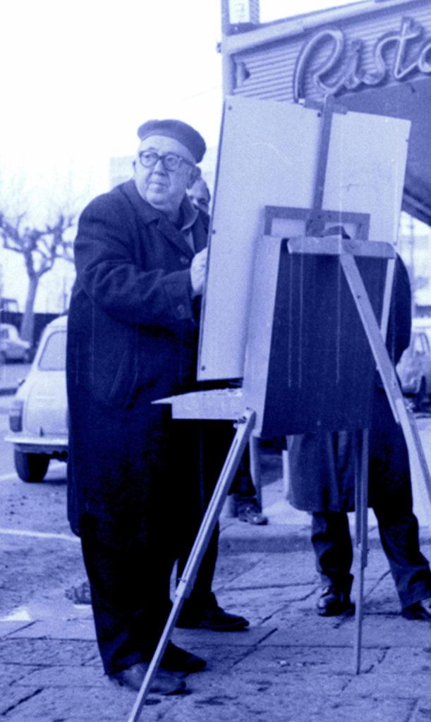 L'artista D'Angelo negli anni '70
