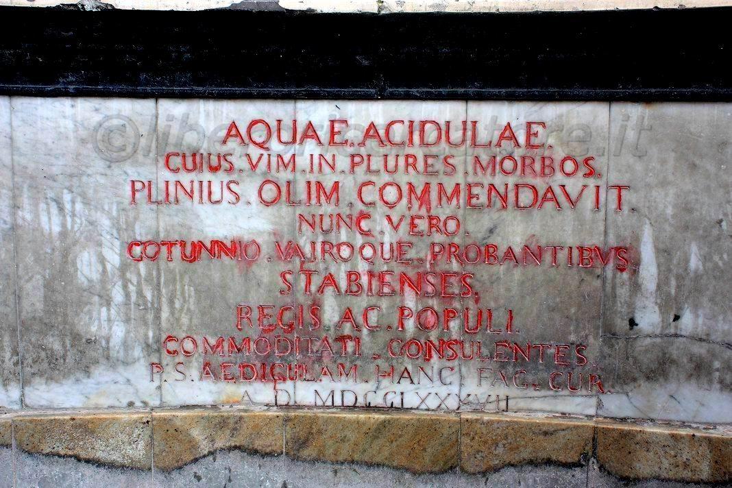 Epigrafe acqua acidula (foto Maurizio Cuomo)