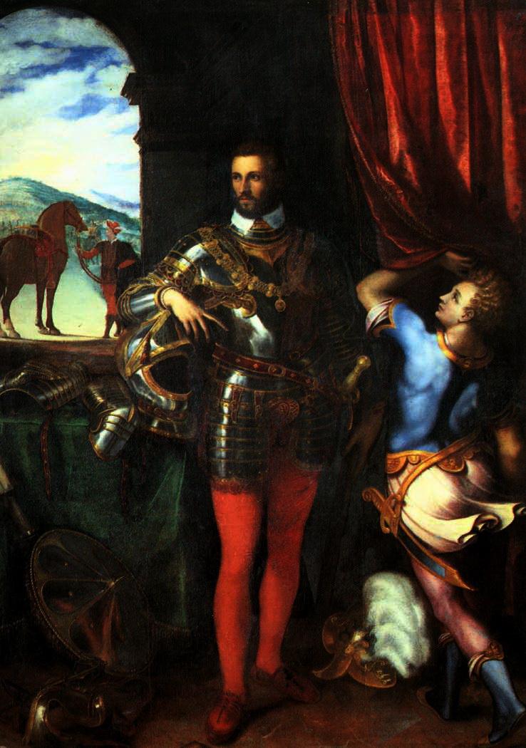 Giulio Campi, ritratto di Ottavio Farnese
