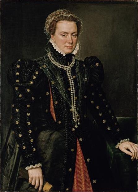 Ritratto di Margherita D'Austria, (Margherita di Parma) Antonio Moro, 1562 circa
