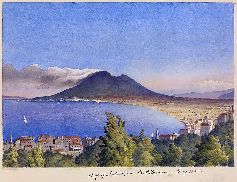 Edward Gennys Fanshawe, Bay of Naples from Castellamare, May 1858 (Italy)