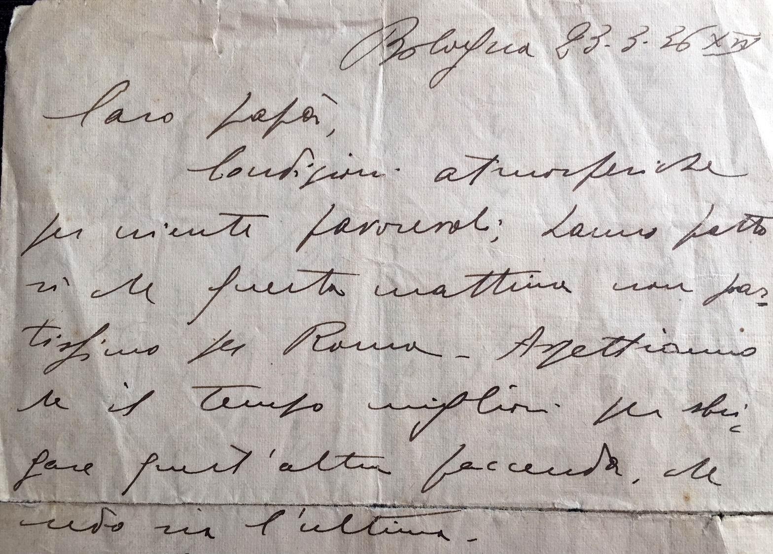 lettera del 23 marzo 1936