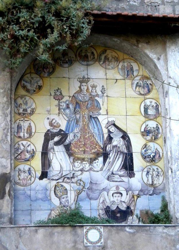 Edicola della Madonna del Rosario (foto Maurizio Cuomo)