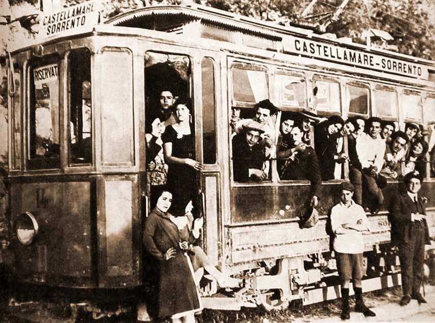 Anni '30 - Il tram Castellammare - Sorrento