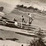 Anni '60 - I pescatori sull'arenile stabiese (foto Ferrarotti & Rossi)