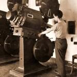 Cinema Montil 1957 - Il cine operatore Andrea Guarino