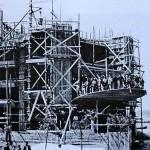 Cinema Montil in costruzione (anni '50)
