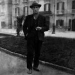 Giuseppe Zingone in Villa Comunale (foto d'epoca)