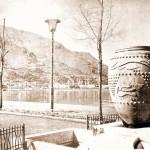 Particolare della fontana sul lungomare della Villa Comunale