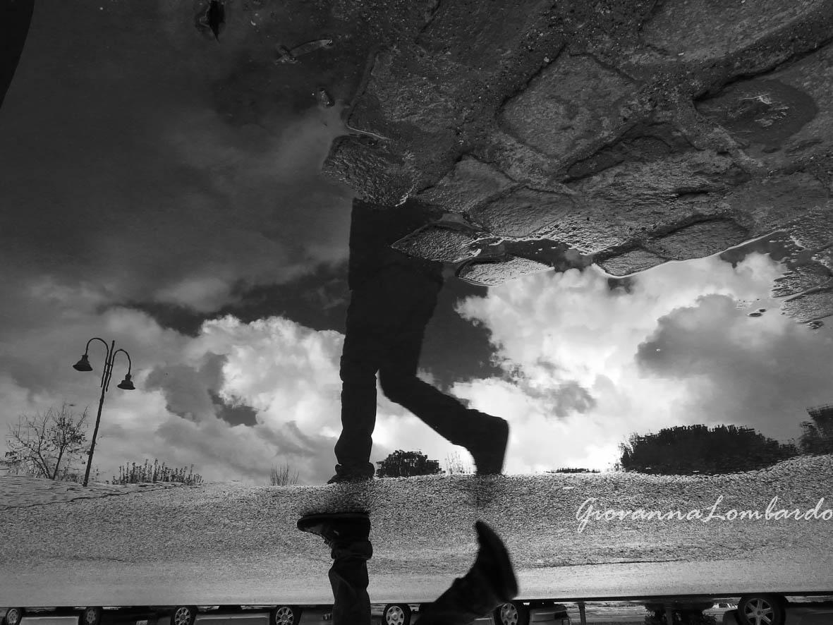 Con la testa fra le nuvole... (foto Giovanna Lombardo)