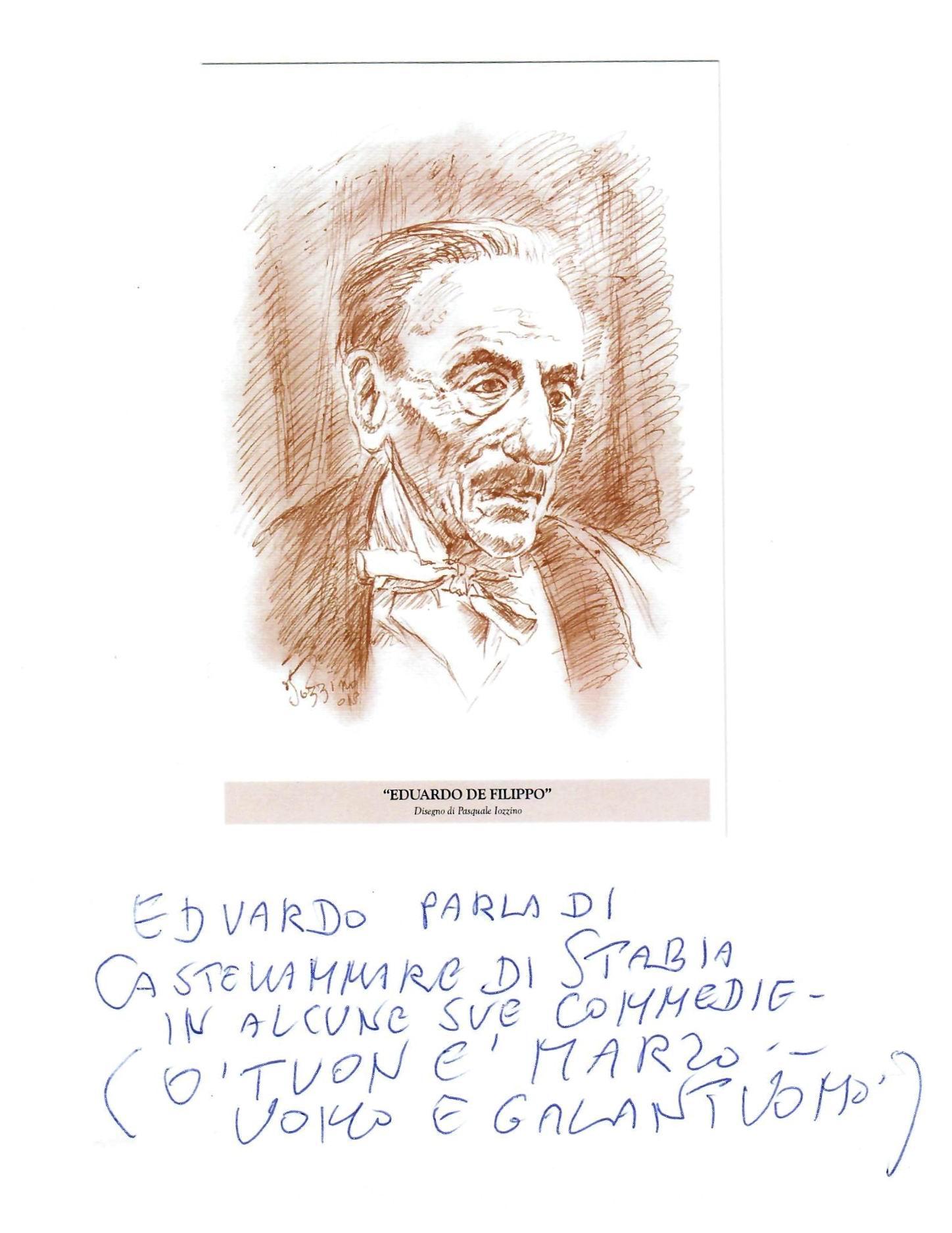 Eduardo De Filippo (opera del prof. Pasquale Iozzino)