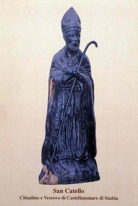 San Catello: scultura lignea di Issa Thiam (Dakar - Senegal) - Chiesa cimiteriale di Castellammare di Stabia.