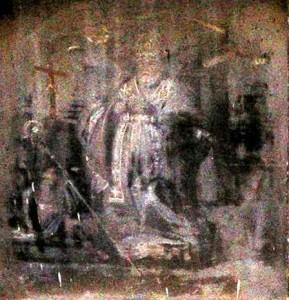 San Catello: edicola votiva sbiadita dal tempo e dall'incuria (inizio salita Visanola - Castellammare di Stabia)